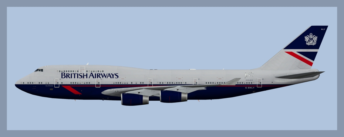 British Airways Boeing 747-400 Fleet 2019