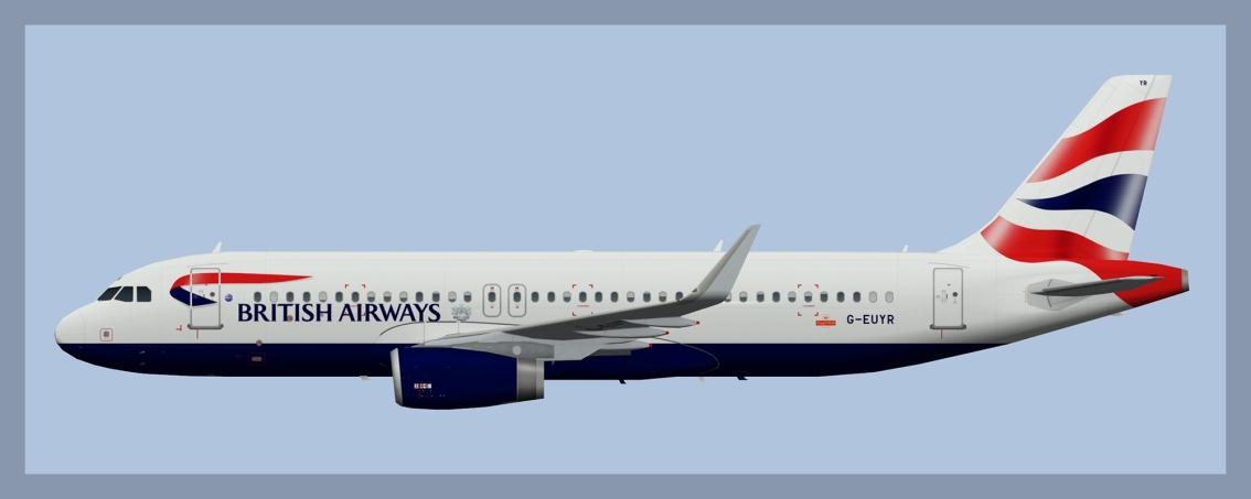 British Airways Airbus A320 Fleet2019