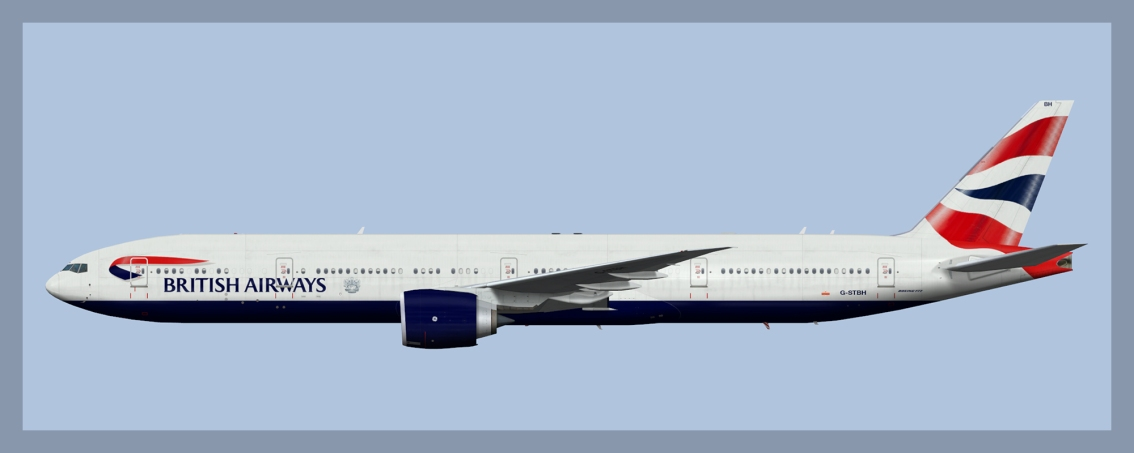 British Airways Boeing 777-300ER Fleet 2019 V2