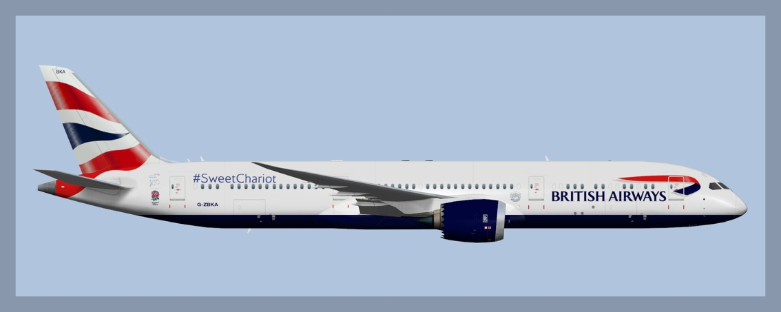 British Airways Boeing 787-9 Fleet 2019 V2