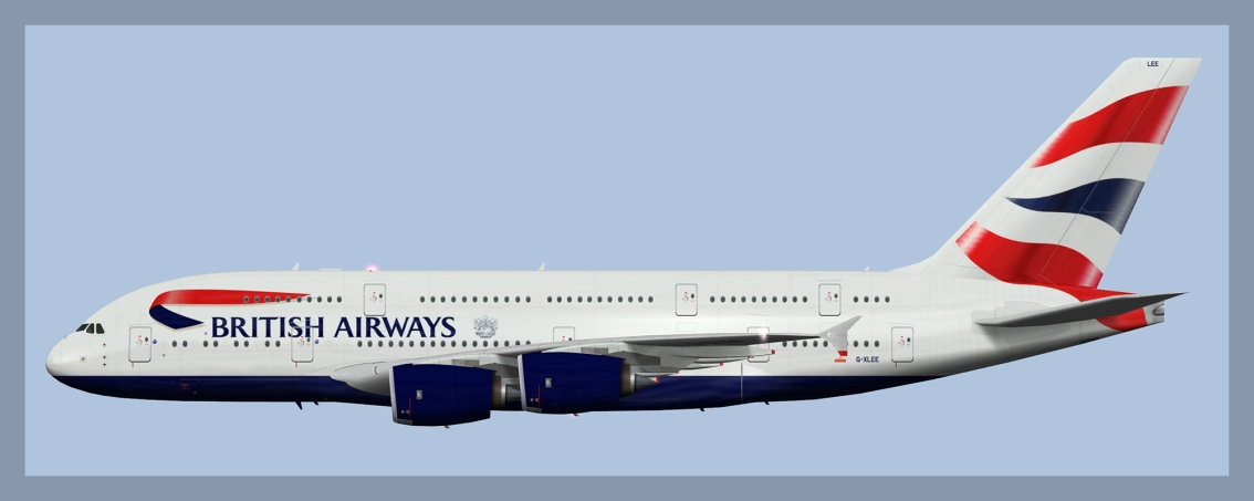 British Airways Airbus A380 Fleet 2019 V2