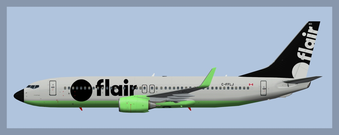 Flair Airlines Boeing 737-800 Fleet 2020