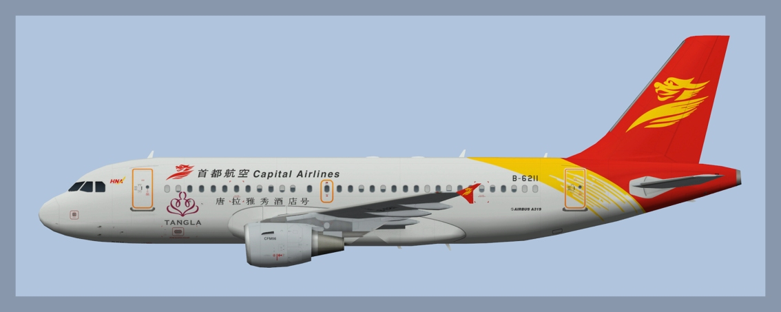 Capital Airlines Airbus A319 CFM Fleet