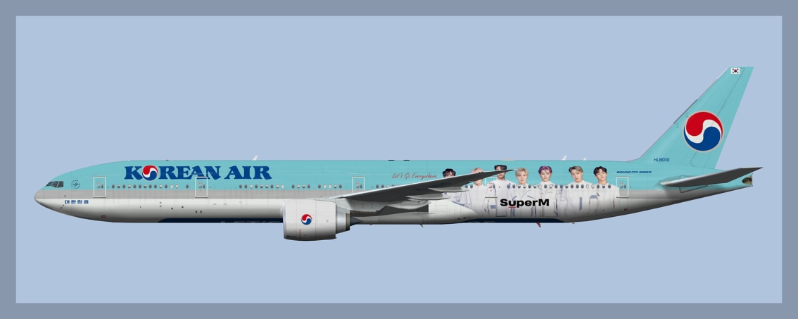 Korean Air Boeing 777-300ER Fleet 2020