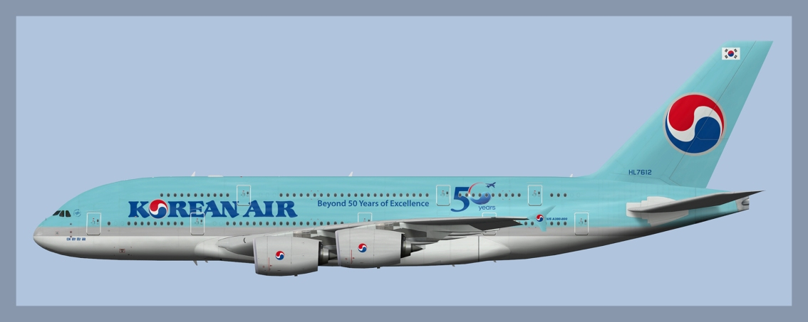 Korean Air Airbus A380-800 Fleet 2020