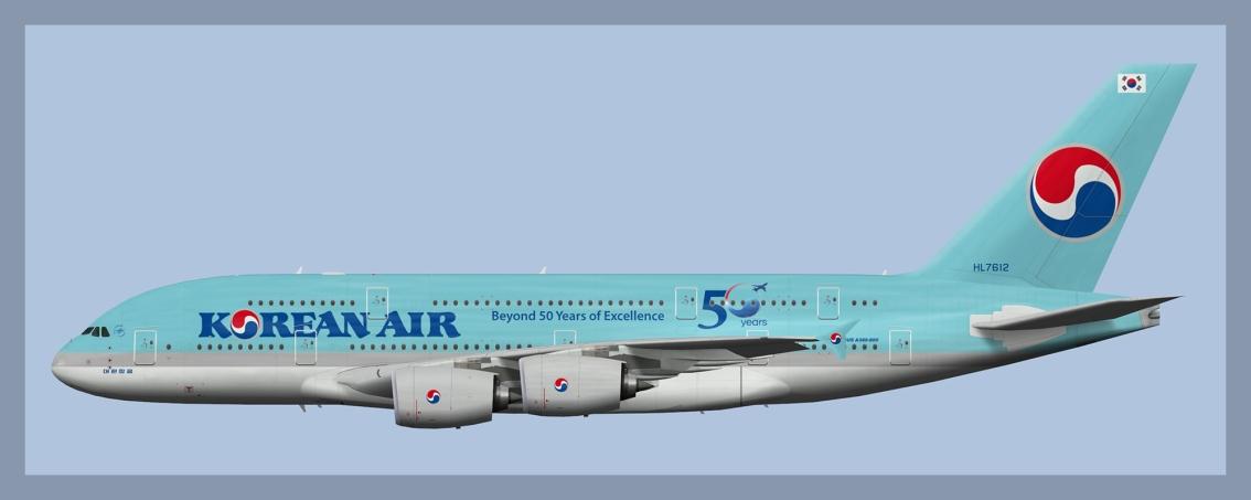 Korean Air Airbus A380-800 Fleet2020