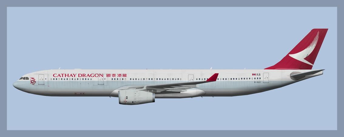 Cathay Dragon Airbus A330-300B-HLK