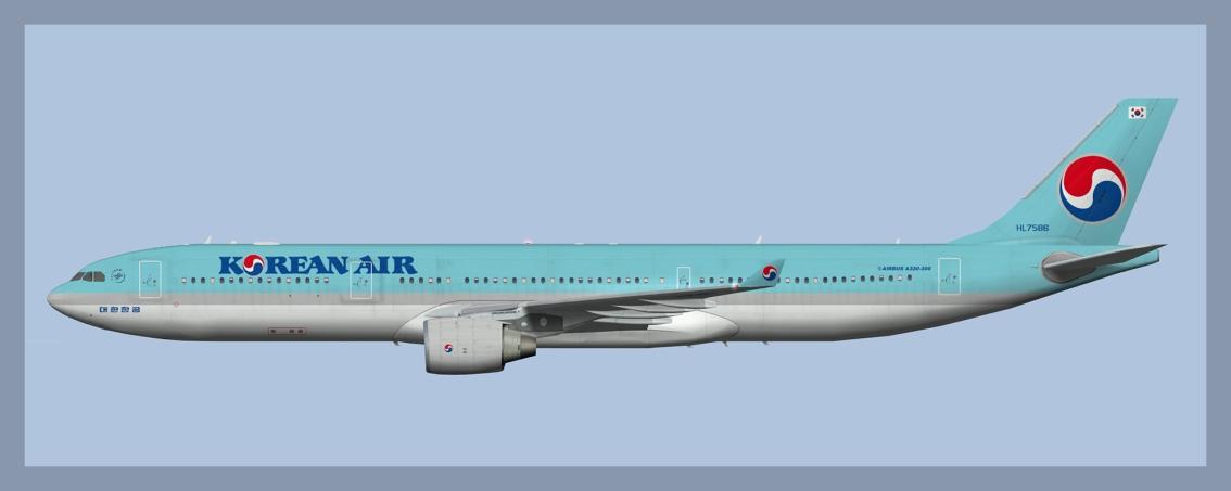 Korean Air Airbus A330-300 Fleet2020