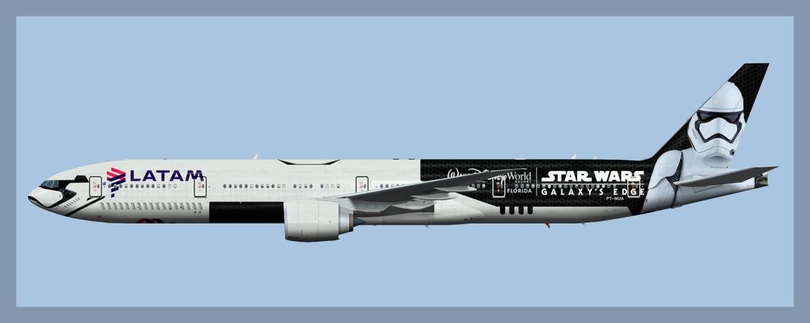 LATAM Brasil Boeing 777-300ER StarWars