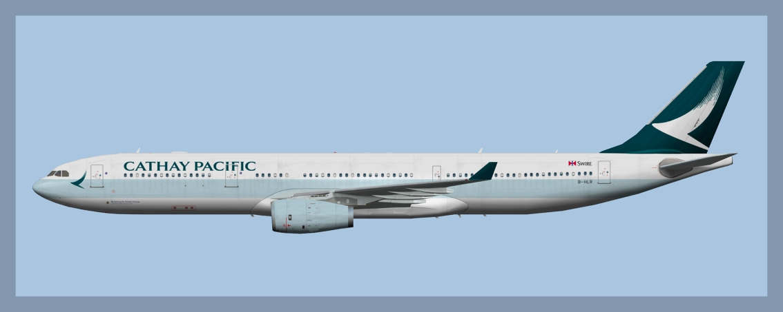 Cathay Pacific Airbus A330-300 B-HLR ClimateChange