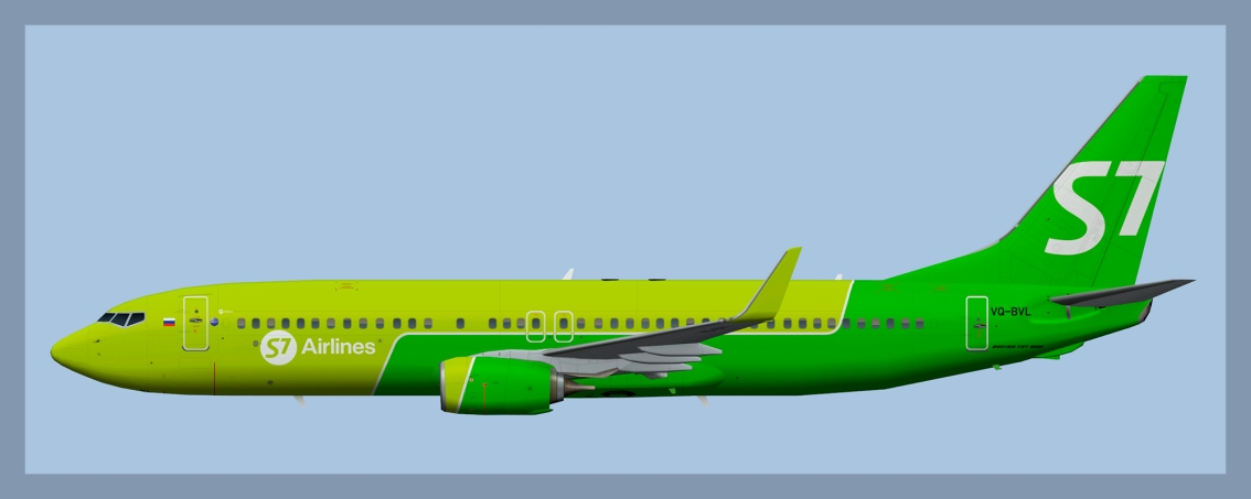 S7 Airlines Boeing 737-800 SN
