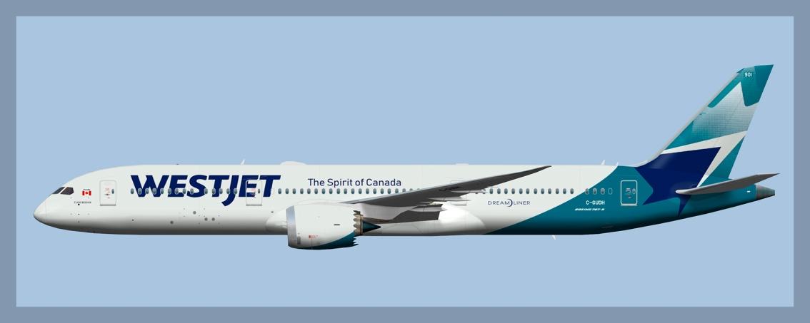 Westjet Boeing 787-92020
