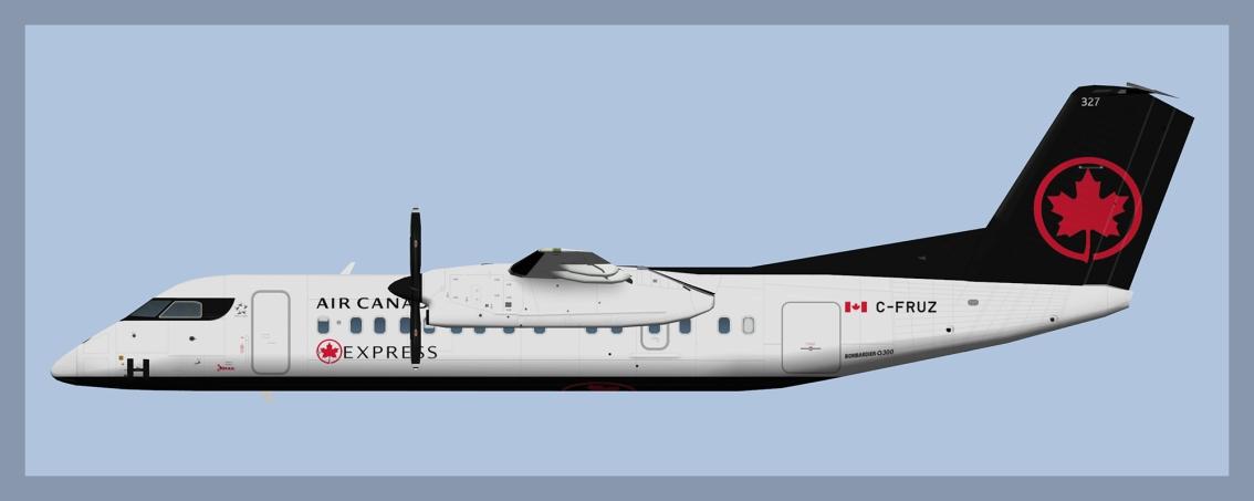 Air Canada Express Dash 8-300 opb Jazz(HD)