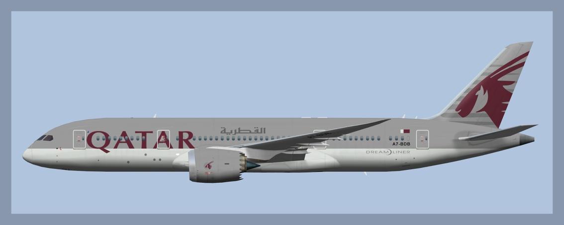 Qatar Airways Boeing 787-8 Fleet(FSP)