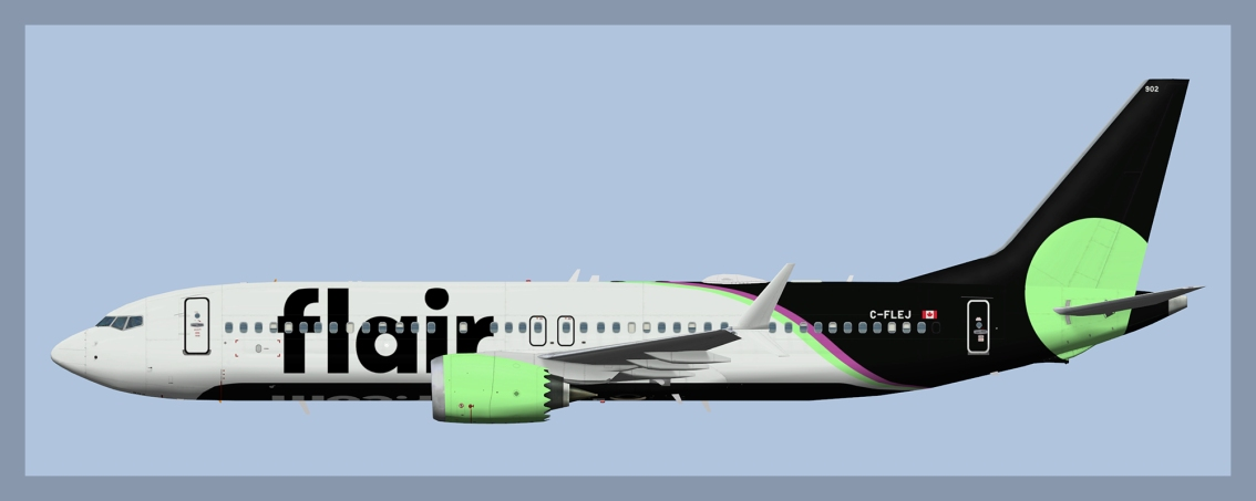 Flair Airlines Boeing737-MAX8