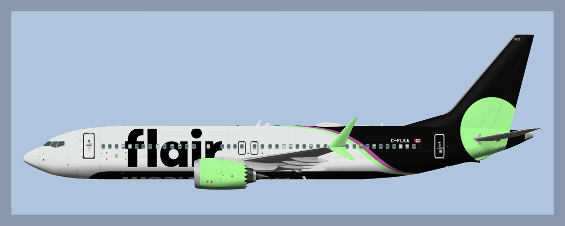 Flair Airlines Boeing 737-MAX8 GreenWinglets